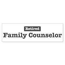 Retired Family Counselor Bumper Bumper Sticker