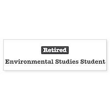Retired Environmental Studies Bumper Bumper Sticker