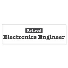 Retired Electronics Engineer Bumper Bumper Sticker