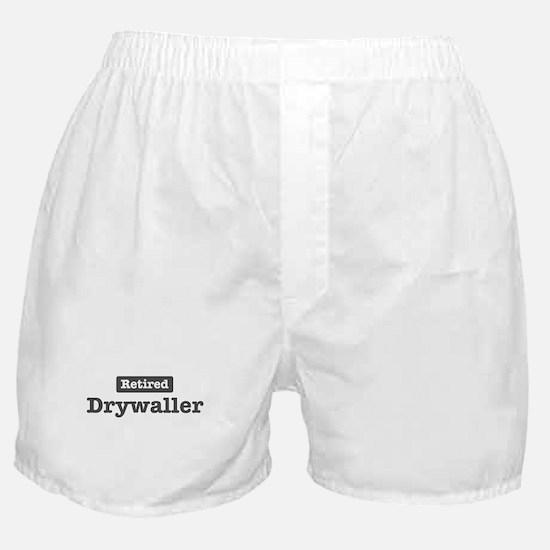 Retired Drywaller Boxer Shorts