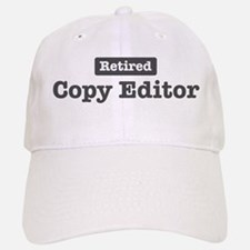 Retired Copy Editor Baseball Baseball Cap