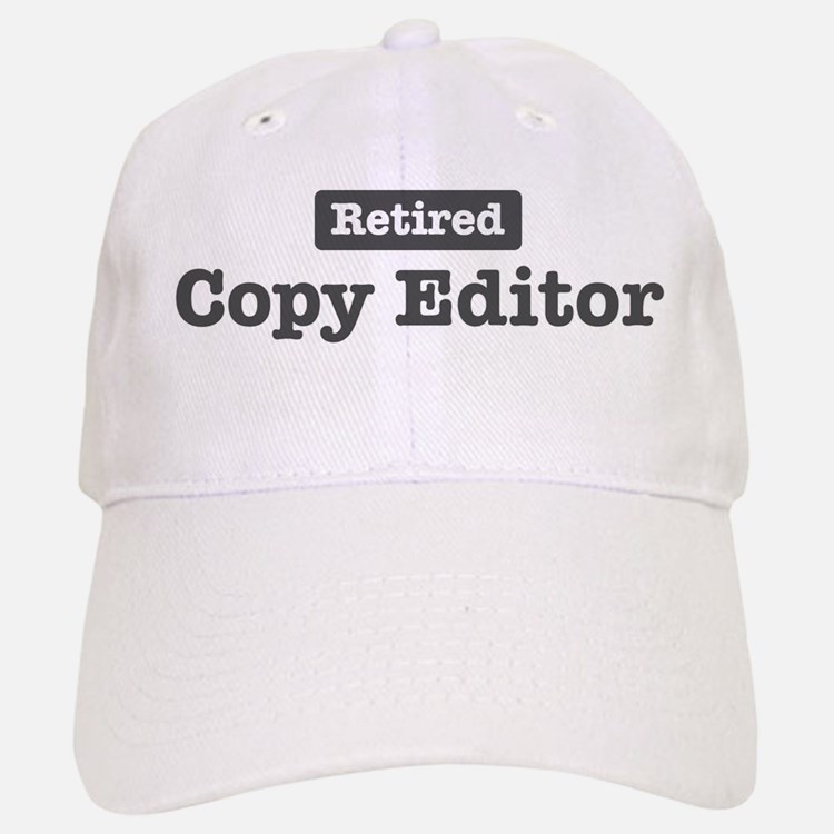 Retired Copy Editor Baseball Baseball Cap