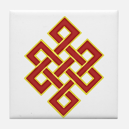 Traditional Endless Knot Tile Coaster