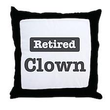 Retired Clown Throw Pillow