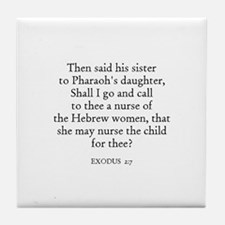 EXODUS  2:7 Tile Coaster
