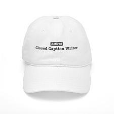 Retired Closed Baseball Caption Writer Baseball Cap
