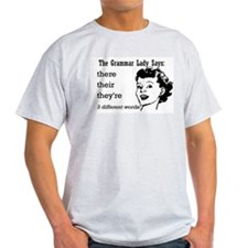 Their, They're, There Ash Grey T-Shirt