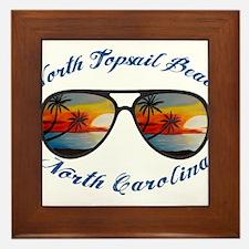North Carolina - North Topsail Beach Framed Tile