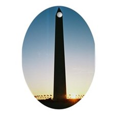 Silhouette of a Monument Oval Ornament