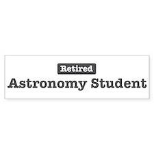 Retired Astronomy Student Bumper Bumper Sticker