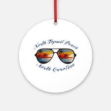 North Carolina - North Topsail Beac Round Ornament
