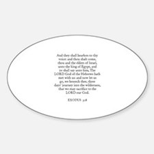 EXODUS 3:18 Oval Decal