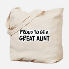 Proud to be Great Aunt Tote Bag
