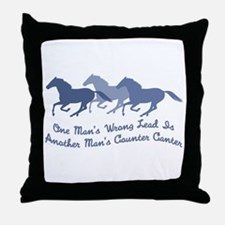 Wrong Lead or Counter Canter Throw Pillow