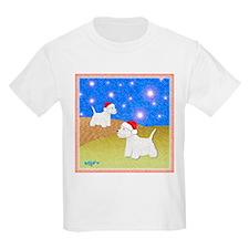"""Christmas Westies"" Kids T-Shirt"