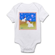"""Christmas Westies"" Infant Creeper"
