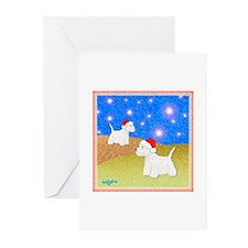 """Christmas Westies"" Greeting Cards (Pk of 10)"