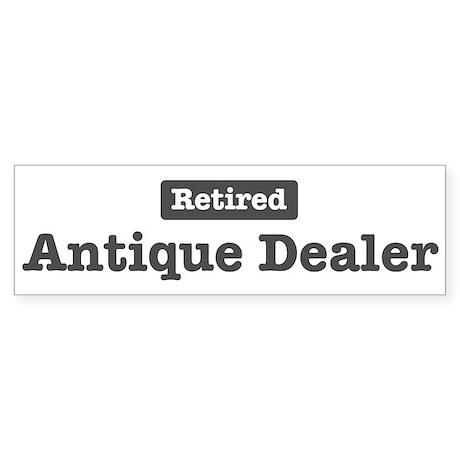 Retired Antique Dealer Bumper Sticker (50 pk)