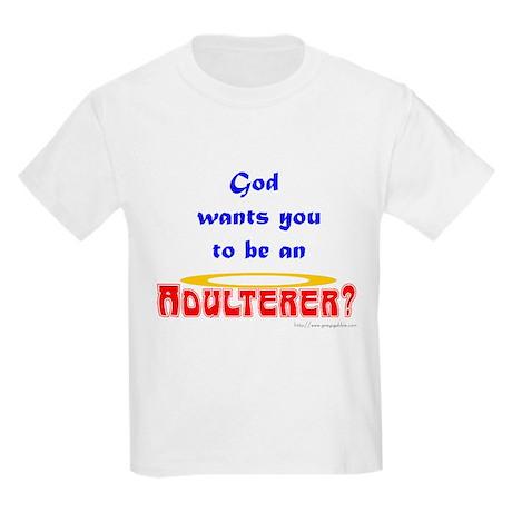 Adulterer Kids Light T-Shirt
