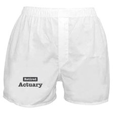 Retired Actuary Boxer Shorts