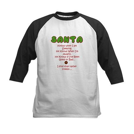 Creepy Santa Kids Baseball Jersey