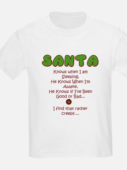 Creepy Santa Kids T-Shirt