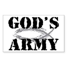 God's Army Rectangle Decal