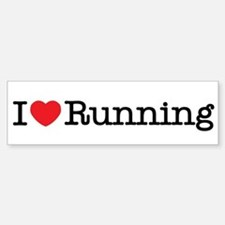 I Love Running Bumper Bumper Bumper Sticker
