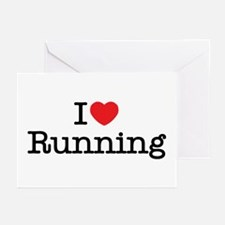 I Love Running Greeting Cards (Pk of 10)
