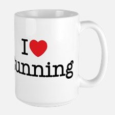 I Love Running Large Mug