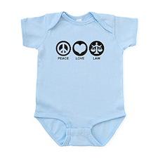 Peace Love Law Infant Bodysuit
