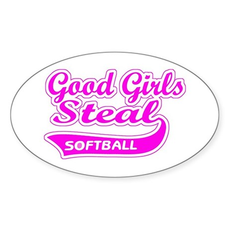Good Girls Steal (pink) Oval Sticker (10 pk)