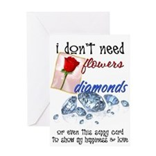 I Just Need Snow Valentines Day Greeting Card
