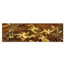 Abstract Flower Trappings Bumper Bumper Sticker