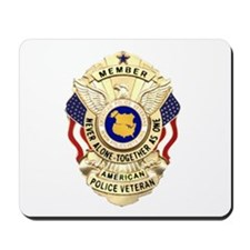 Police Veterans Badge Mousepad