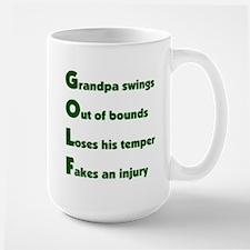 Grandpa Golf 2 Large Mug