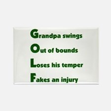Grandpa Golf 2 Rectangle Magnet