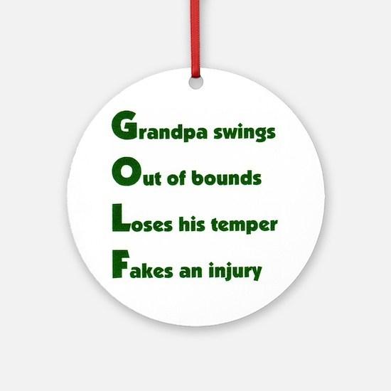 Grandpa Golf 2 Ornament (Round)