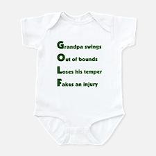 Grandpa Golf 2 Infant Bodysuit