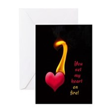 HEART ON FIRE Greeting Card