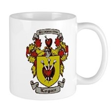 logan family crest mug