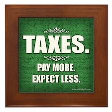 Taxes... Framed Tile