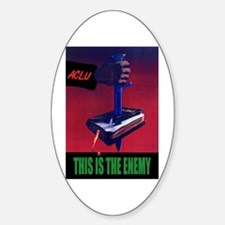 This is the Enemy Oval Decal
