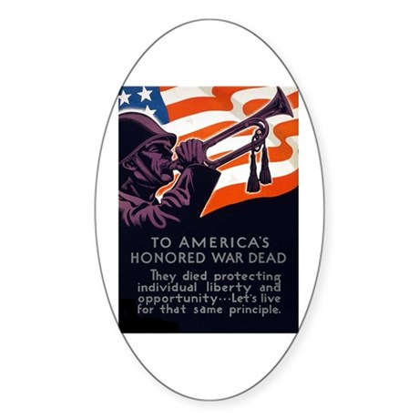 Honoring Our Troops Oval Sticker