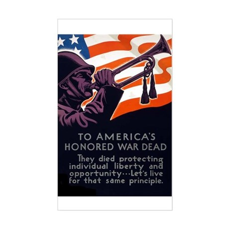 Honoring Our Troops Rectangle Sticker
