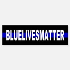 Blue Lives Matter Thin Line Strip Bumper Bumper Sticker