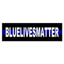 Blue Lives Matter Thin Line Strip Bumper Sticker