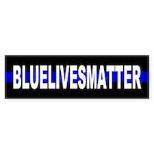 Blue Lives Matter Thin Line Strip Bumper Sticker