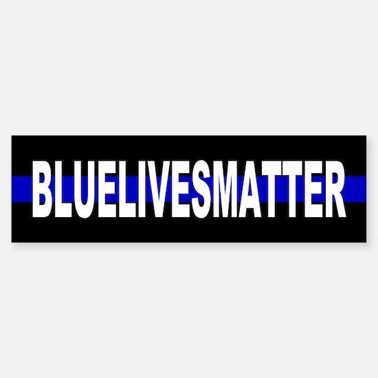 Blue Lives Matter Thin Line Strip Sticker (Bumper)