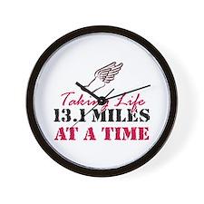 Taking Life 13.1 miles Wall Clock